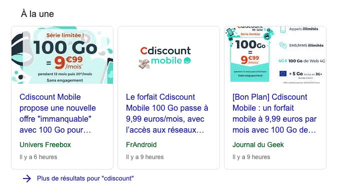actualite et e-réputation Google