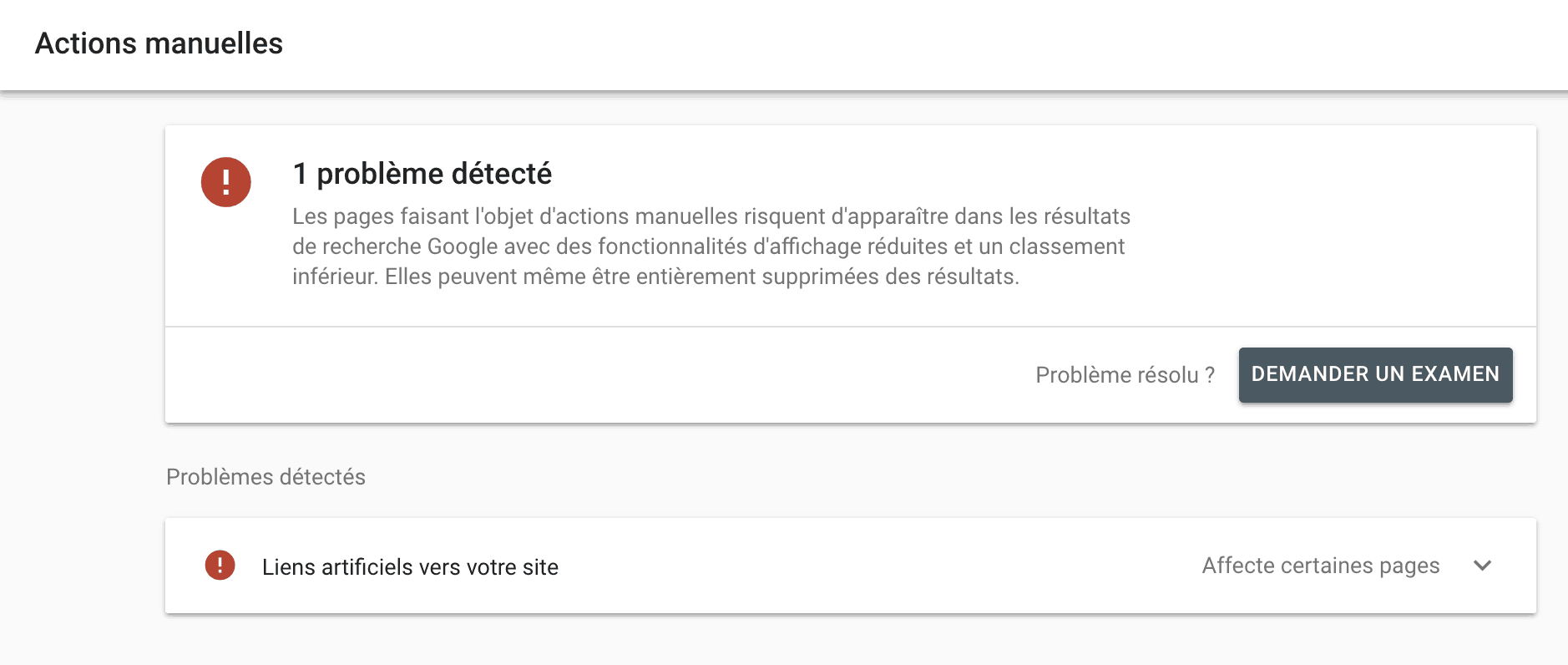 sortir un article de blog d une penalite google