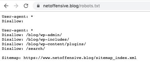 L'emplacement du fichier robot.txt