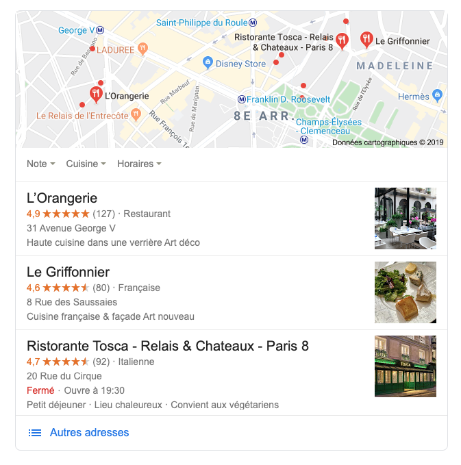 Le Pack Local Google
