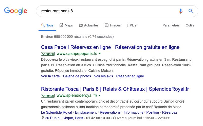 Les annonces Google Ads