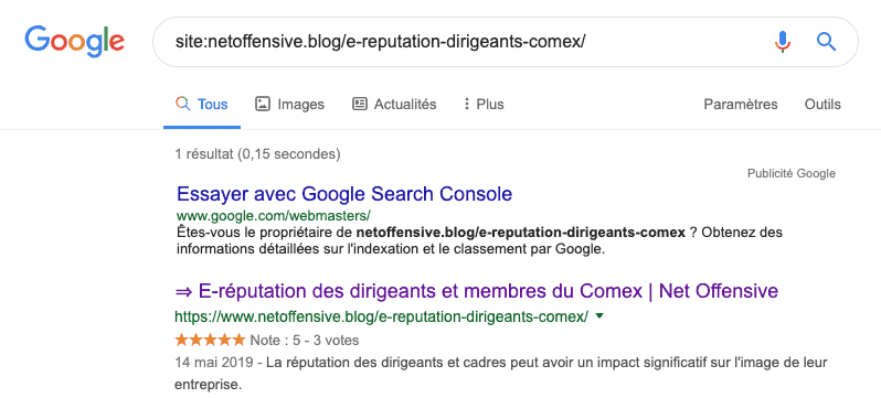 Indexation d'une page