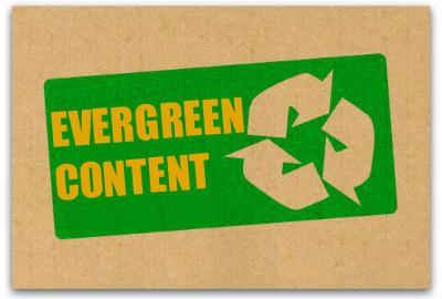 L'expression anglaise d'evergreen content désigne un contenu impérissable ou persistant dans le temps