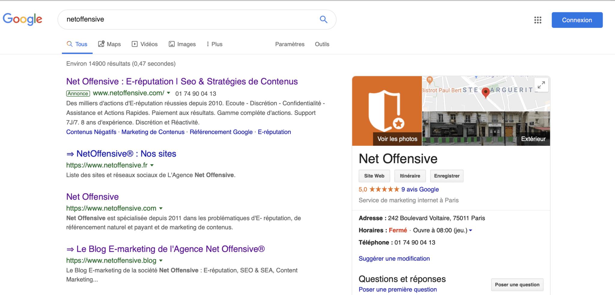 La fiche Google My Business en référencement local