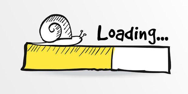 Temps chargement site internet trop lent.